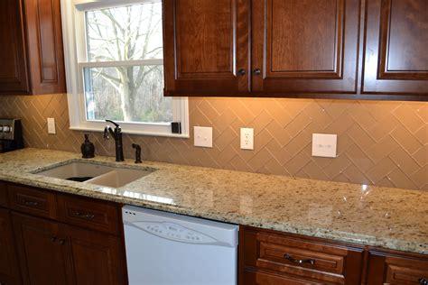 subway tiles for backsplash in kitchen chage glass subway tile herringbone kitchen backsplash