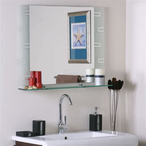 mirror shelf bathroom frameless contemporary bathroom mirror with shelf in