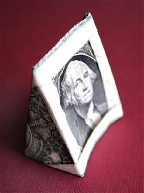 easy dollar bill origami zakka origami one dollar picture frame