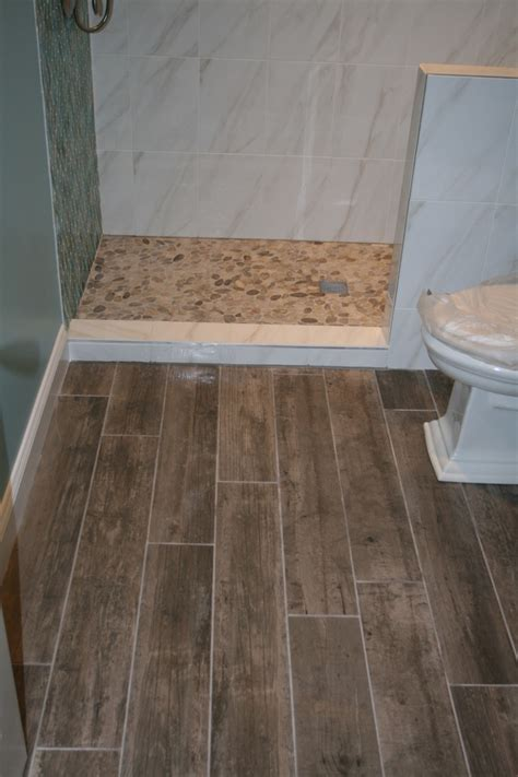 modern bathroom floor tile ideas river rock floor tile spaces with river rock floor tile