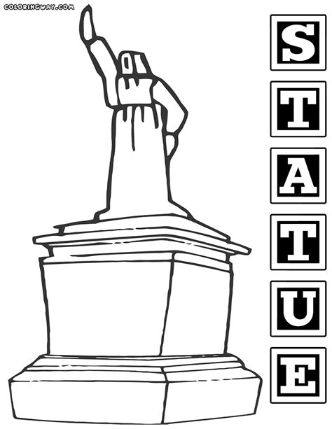 statue coloring pages coloring pages to and print