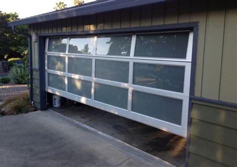 modern glass garage doors impressive mid century modern garage doors the