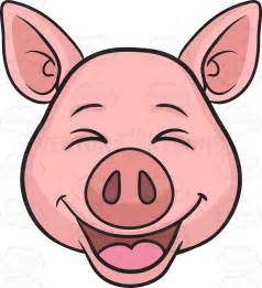How To Draw A Pig Standing Up by A Laughing Pig Cartoon Clipart Vector Toons