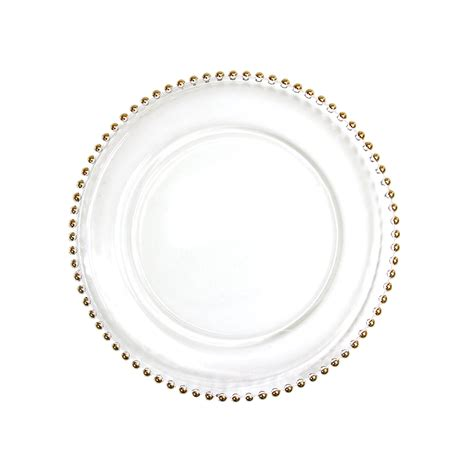 gold beaded charger plates wholesale preorder gold beaded edge glass charger plates 8 pack