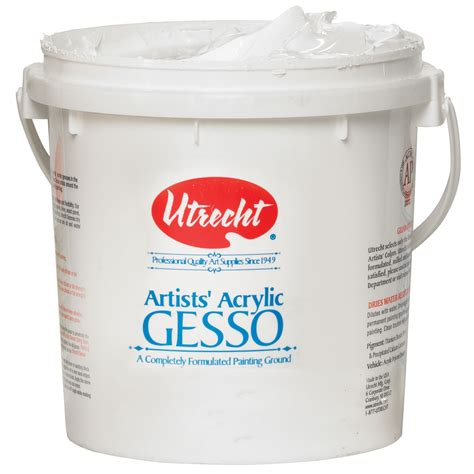 acrylic paint gesso canvas save on discount utrecht artists acrylic gesso white