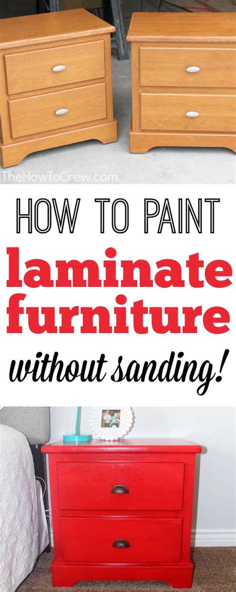 how to paint bedroom furniture without sanding how to paint laminate furniture without sanding a step