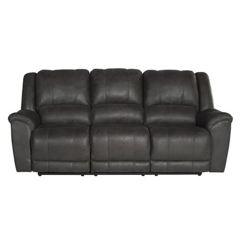 Reviews On Ashley Furniture by Ashley Niarobi Faux Leather Reclining Sofa In Gray 4060088