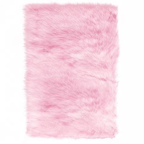 pink area rug home decorators collection faux sheepskin pink 4 ft x 6