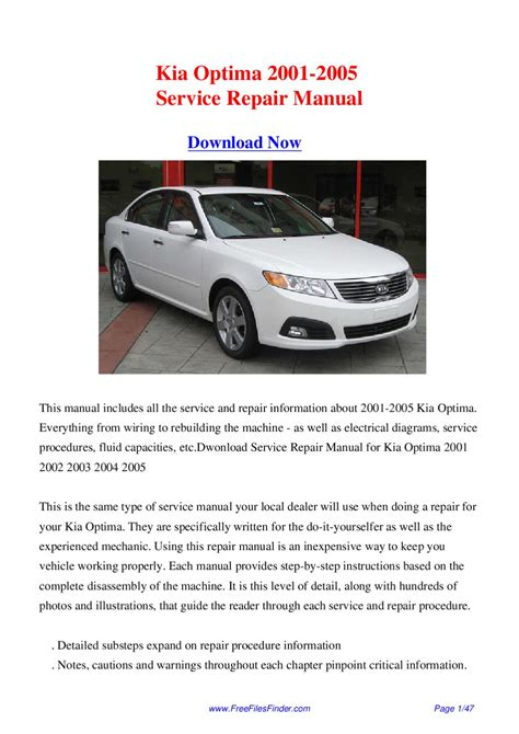 car repair manual download 2005 kia optima parking system service manual owners manual for a 2002 kia optima kia optima 2001 2002 2003 2004 2005