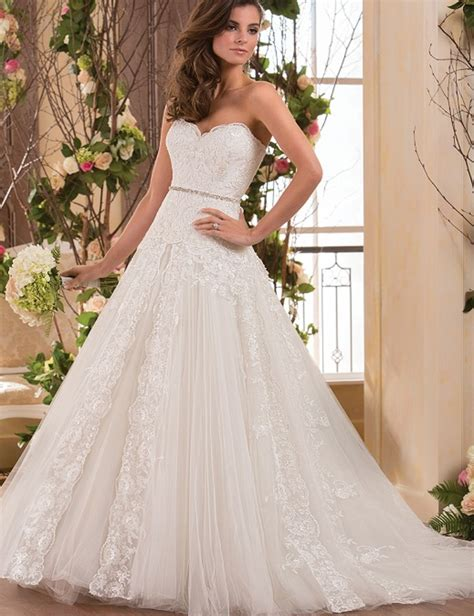 white beaded wedding dress a line 2015 new sweetheart beaded white ivory strapless