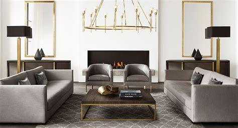 furniture modern new brass furniture and decor from rh modern