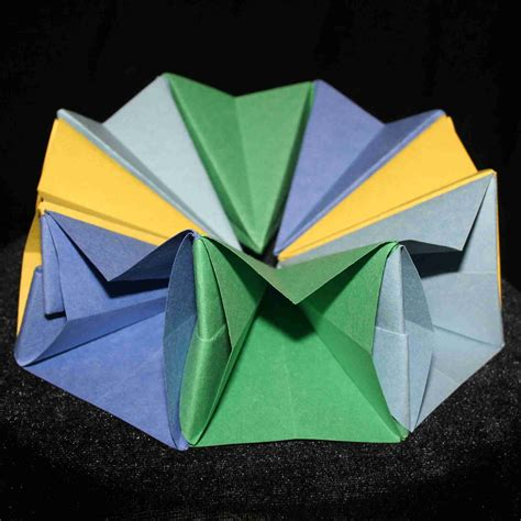 origami circle box origami by