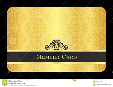 how to make a membership card golden member card with classic vintage pattern stock