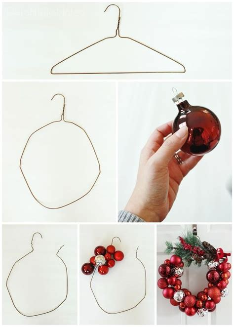 how to make ornaments out of deck the halls with this easy to make wire hanger ornament