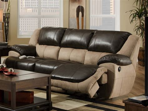two tone reclining sofa brighton reclining sofa in two tone upholstery by
