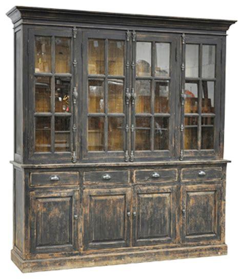 rustic china cabinet black distressed display cabinet rustic china cabinets and hutches by design mix furniture