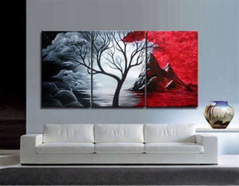 paint on canvas 3pieces modern abstract wall painting on