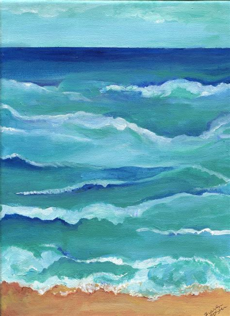 acrylic painting waves best 25 paintings on canvas ideas on