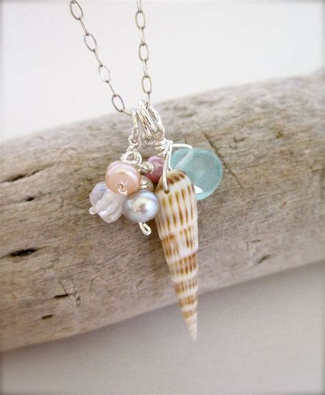 how to make shell jewelry 17 best ideas about seashell necklace on shell