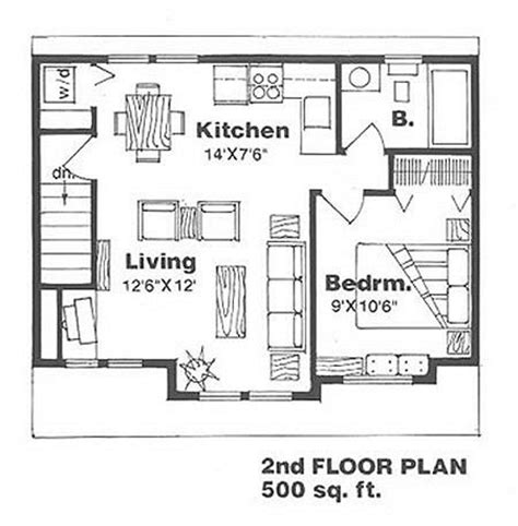 floor plan for 500 sq ft apartment farmhouse style house plan 1 beds 1 baths 500 sq ft plan