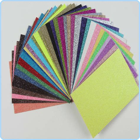 wholesale craft paper selling shiny diy glitter paper sheet wholesale paper
