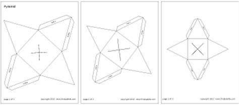 square pyramid printable templates amp coloring pages