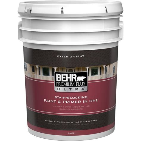 home depot paint quart behr premium plus ultra 1 qt medium base flat exterior