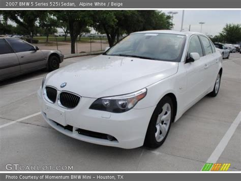 2007 Bmw 525i by Alpine White 2007 Bmw 5 Series 525i Sedan Beige