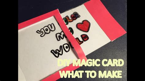 make a magic card what to make diy magic color changing card