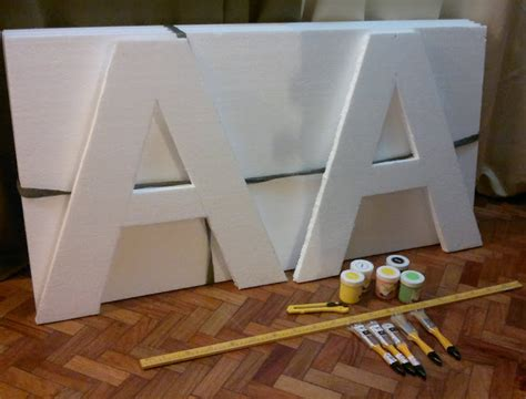 acrylic paint national bookstore diy letter standees using styrofoam and acrylic paint