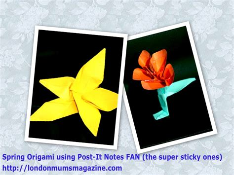 origami with post it notes s day keepsakes creative activities