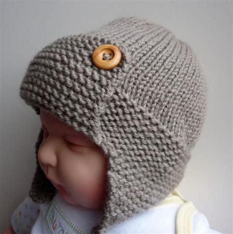 knitting pattern boys hat baby aviator hat regan by julie craftsy