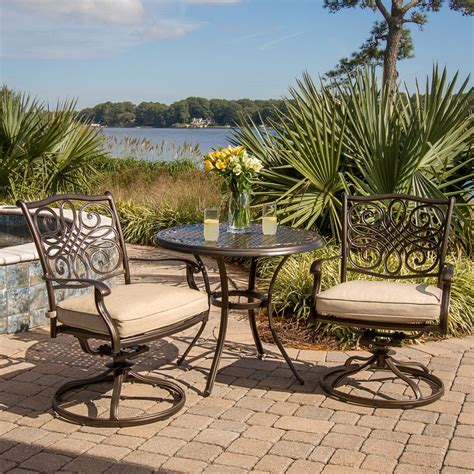 patio furniture 3 set shop hanover outdoor furniture traditions 3 bronze