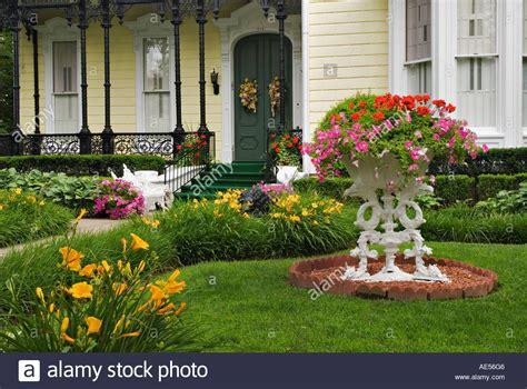 front yard flower garden flower garden in front yard of home on mansion row new
