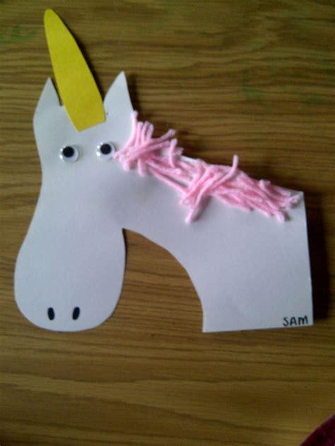 unicorn crafts for u is for unicorn