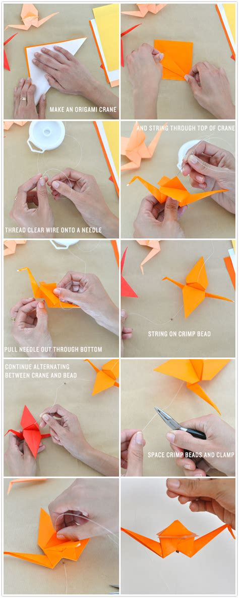 how to make crafts for diy ombr 233 crane garland camille styles