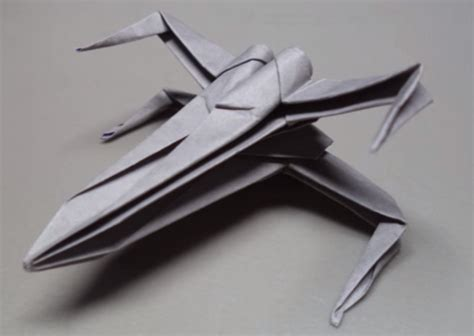 origami x wing starfighter make your own wars x wing starfighter origami sculpture
