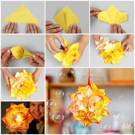 beautiful origami flowers wonderful diy origami kusudama flower