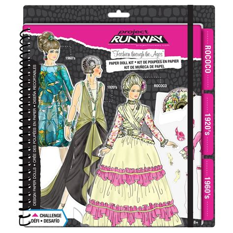 project runway craft kits project runway 174 quot fashion through the ages quot paper doll kit
