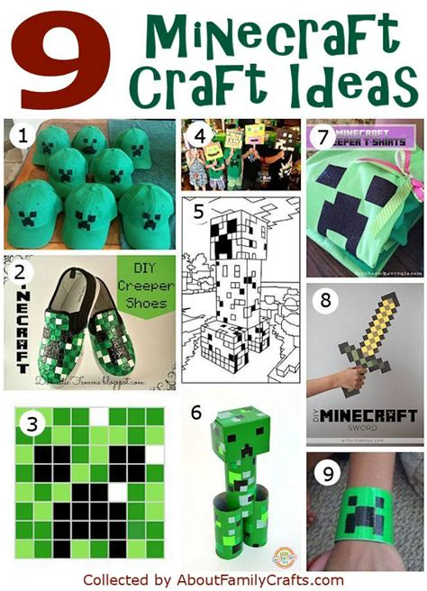 minecraft craft projects 50 diy minecraft birthday ideas about family crafts