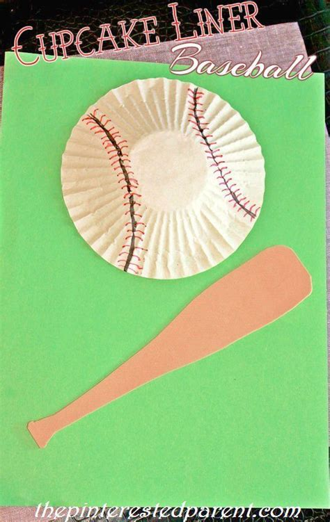 baseball crafts for cupcake liner baseball cotton cotton craft
