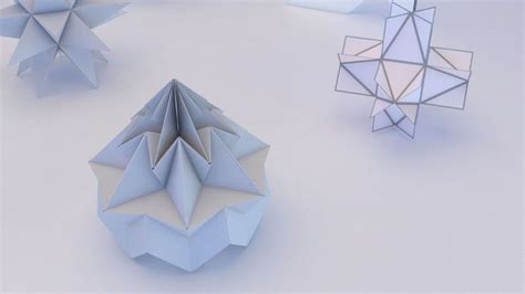 geometrical origami origami geometric 3d model max obj 3ds fbx mtl cgtrader