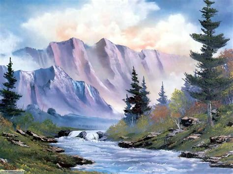 bob ross painting light foto paesaggi dipinti per sfondi settemuse it