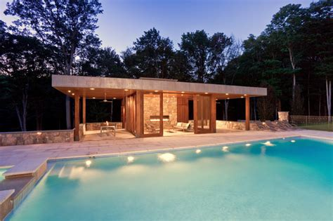 pool house modern pool house