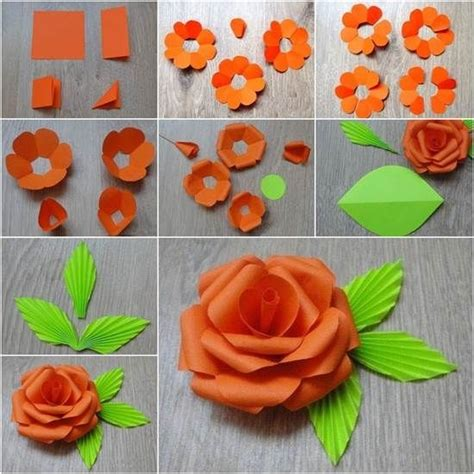 do it yourself paper crafts diy paper flower flowers diy crafts home made easy crafts