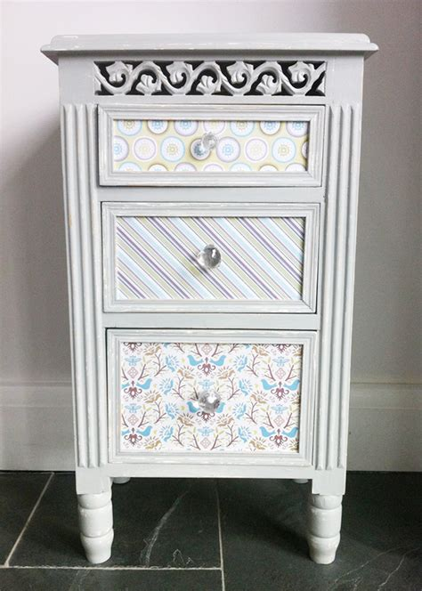 decoupage bedside table for the creative home decoupage