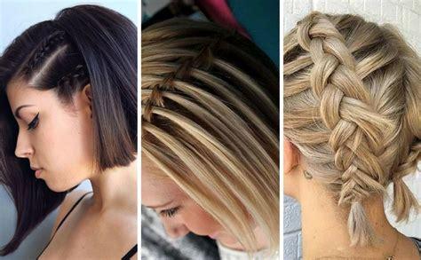 fotos de peinados de pelo corto peinados con trenzas en cabello corto 10 ideas geniales