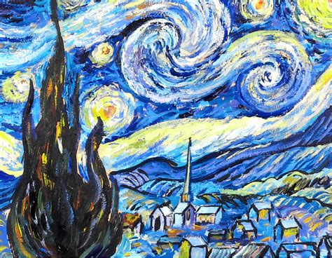 acrylic painting lesson step by step gogh s starry acrylic painting
