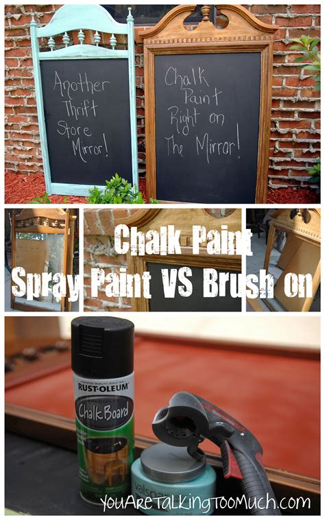Chalkboard Quot Brush Quot Paint Vs Quot Spray Quot Chalkboard Paint You