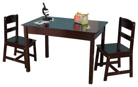 kid craft table and chairs rectangle table and 2 chair set espresso by kidkraft